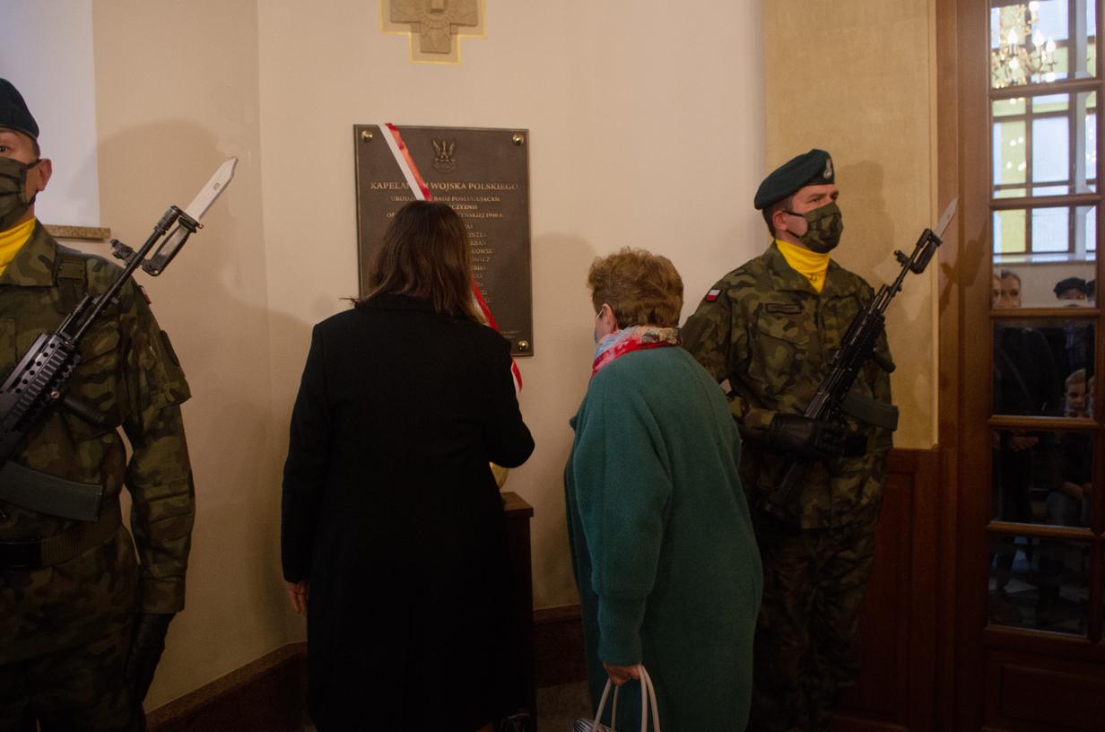 Lublin, odsłonięcie tablicy w kościele garnizonowym 11.10.2020. Foto: W.Wójcik